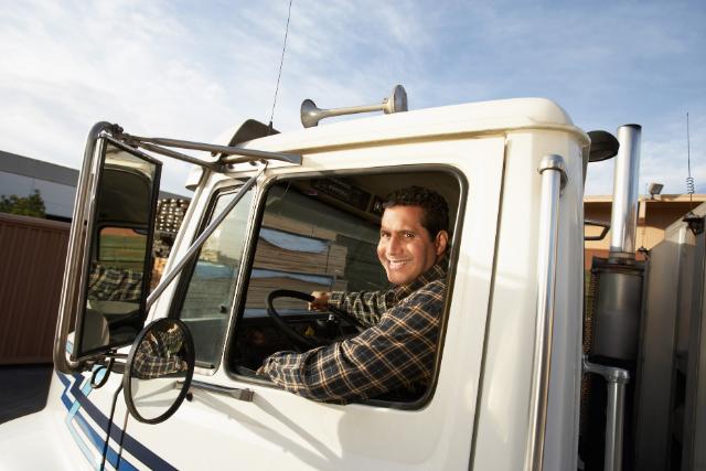 truck driver in semi